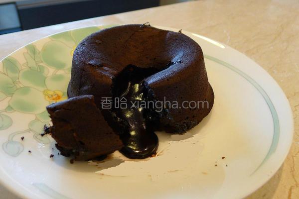 爆浆巧克力蛋糕的做法
