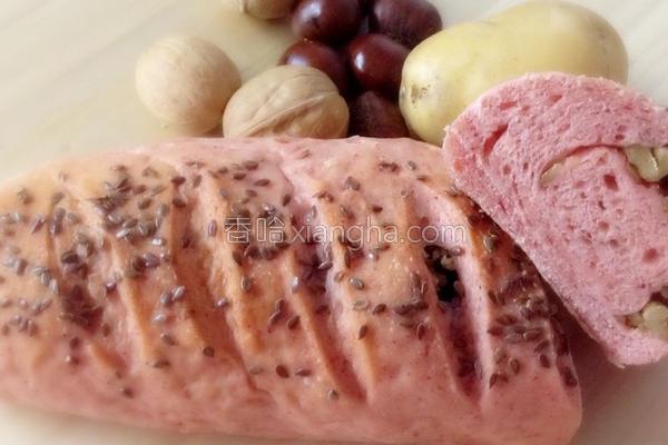 秋日红麹面包的做法