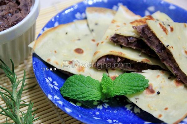 豆沙锅饼的做法