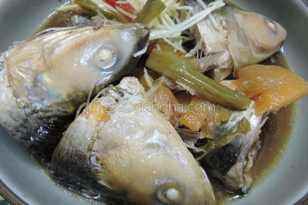 凤梨酱虱目鱼头的做法