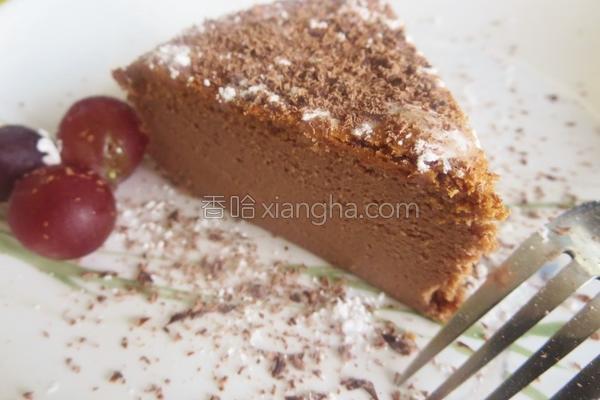 巧克力轻乳酪蛋糕的做法