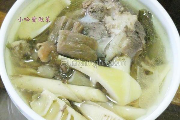 大骨福菜桂竹笋汤的做法