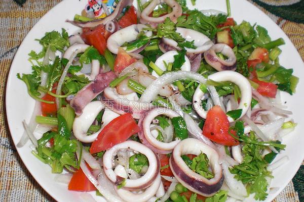 油醋海鲜沙拉的做法