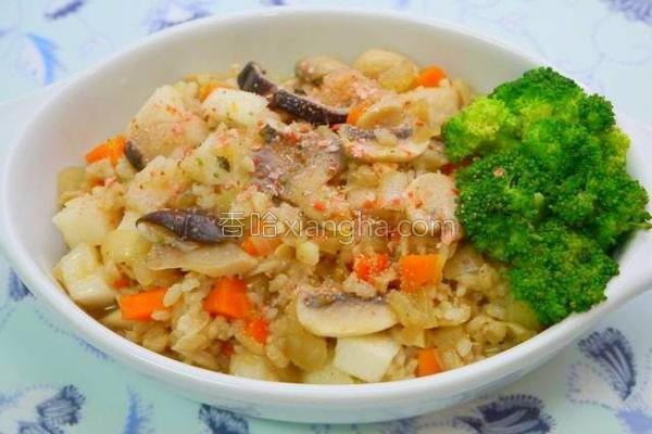 洋葱菇菇饭的做法