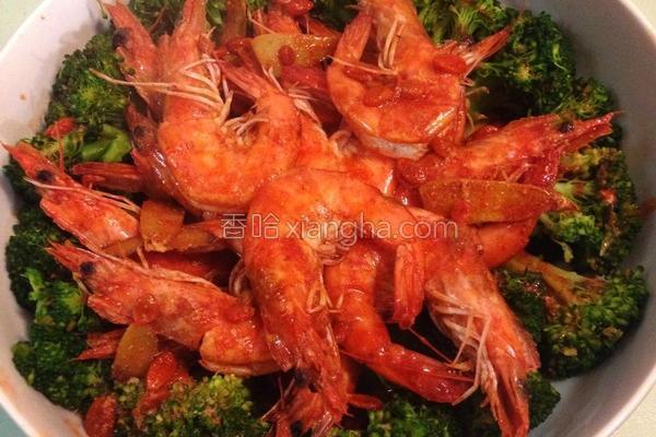 花团锦簇麻油虾的做法