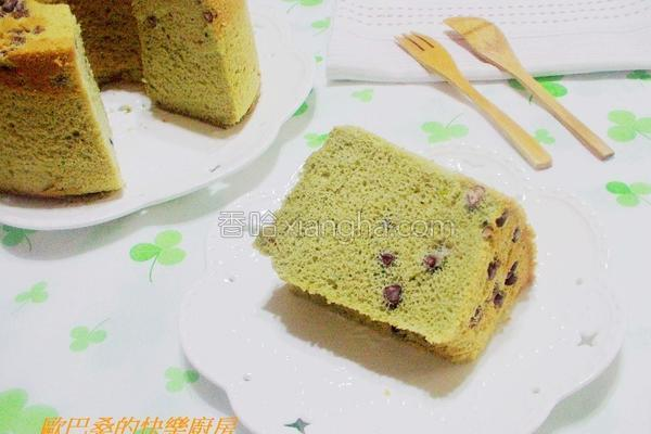 抹茶红豆戚风蛋糕的做法
