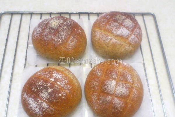 香草全麦法国面包的做法