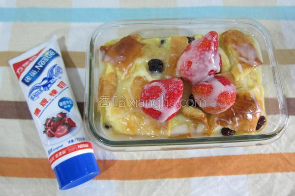 草莓就爱鹰牌炼奶的做法