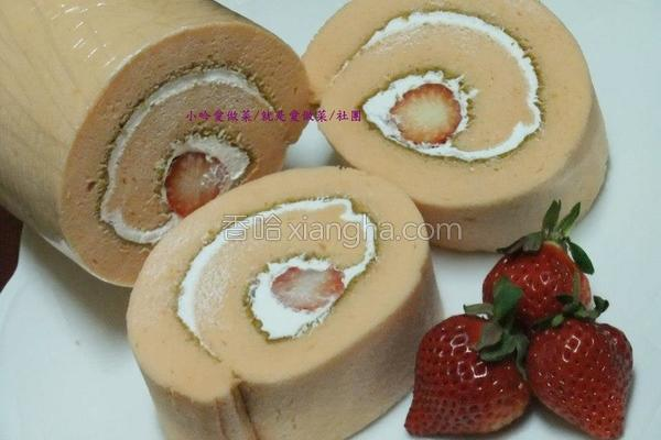 鲜奶油草莓瑞士卷的做法