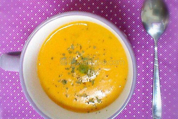 南瓜番薯浓汤的做法