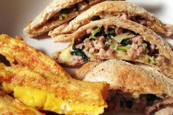 烤起司猪肉三明治的做法