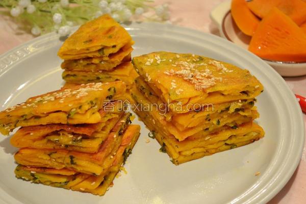 芝麻南瓜葱油饼的做法