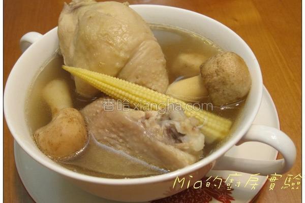 新鲜巴西蘑菇炖鸡的做法