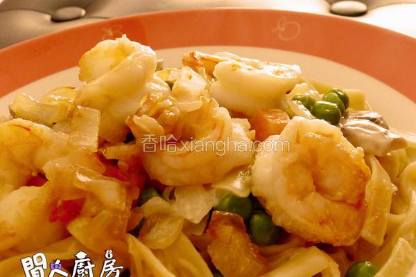 大虾扁意粉