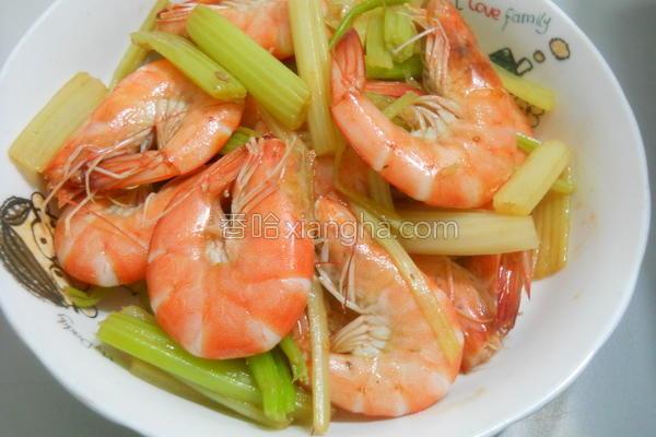麻油芹菜虾的做法