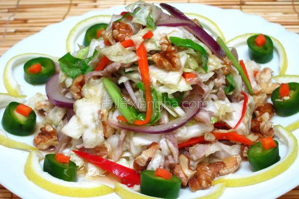 梅花肉高丽菜沙拉的做法