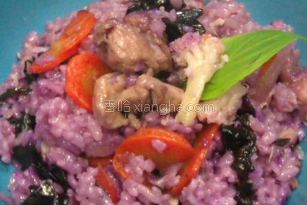 红凤菜鸡肉炊饭的做法
