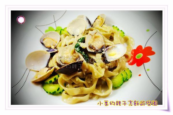塔香蛤蜊面的做法