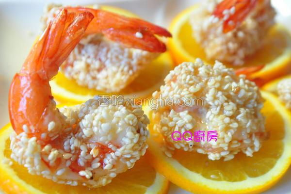 香蜜芝麻虾的做法
