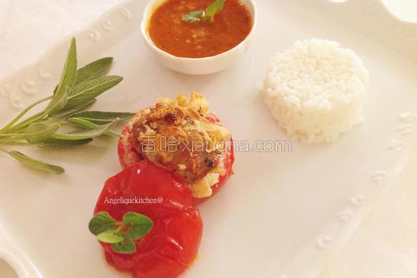 法式烤番茄镶肉的做法
