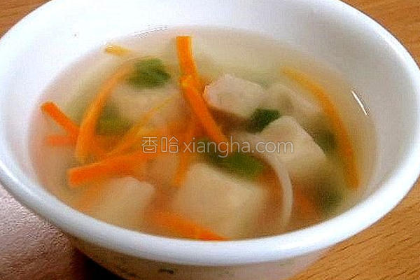 暖身清淡芋粿汤的做法