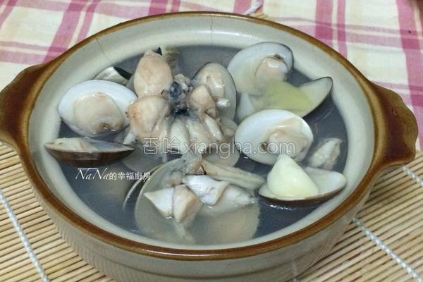 牛蛙蒸蒜仁蛤仔汤的做法