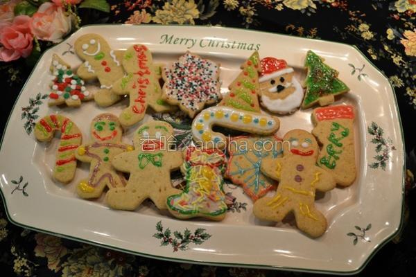 圣诞姜饼曲奇的做法