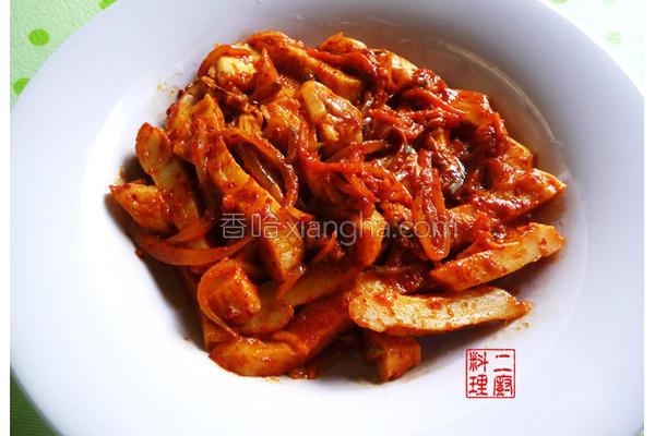 韩式泡菜甜不辣的做法