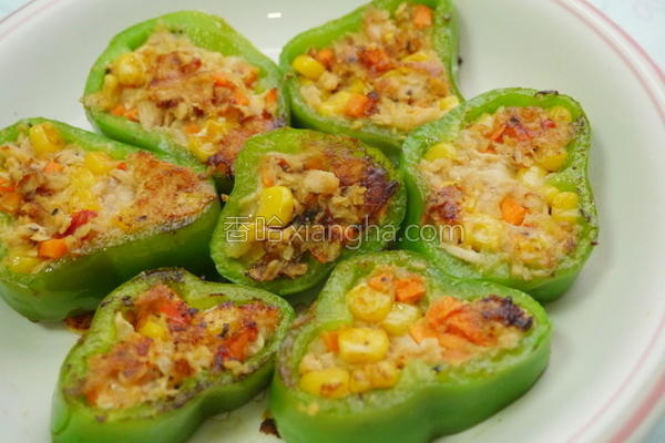 青椒镶鲔鱼的做法