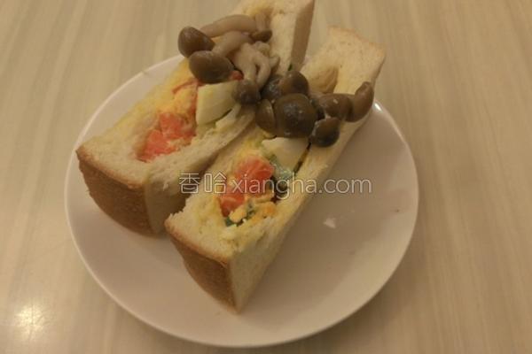 菇菇口袋沙拉的做法