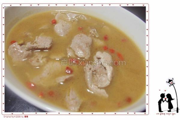 麻油肉片汤