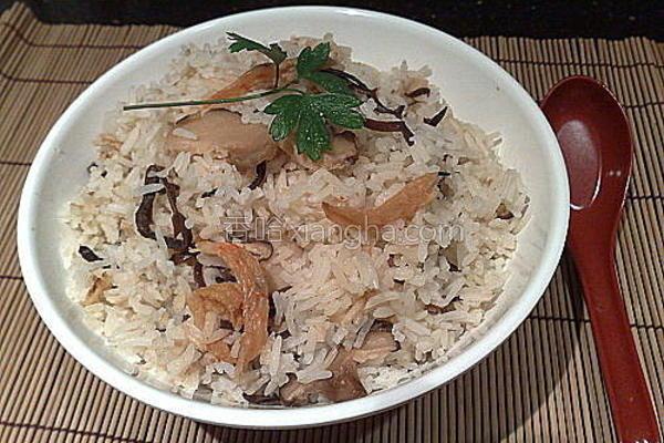 冬菇虾干大碗饭的做法