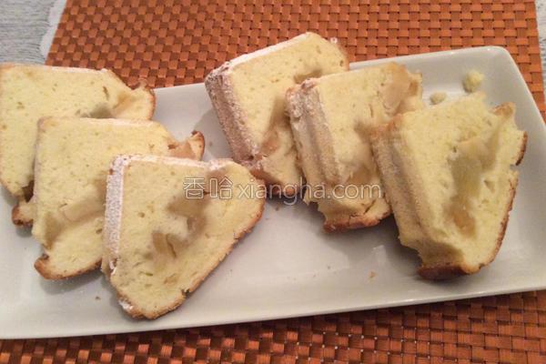 糖渍苹果蛋糕的做法