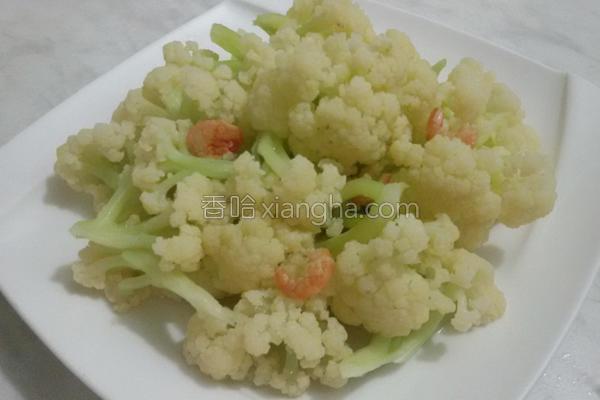 白花椰炒金钩虾的做法