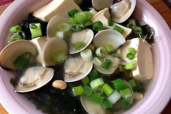 海带芽文蛤味噌汤的做法