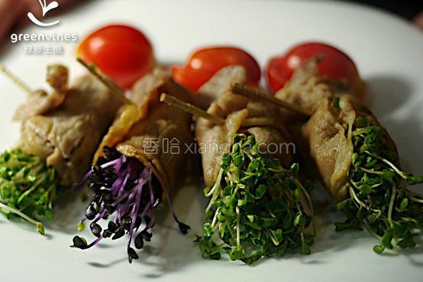 芽菜烧肉卷的做法