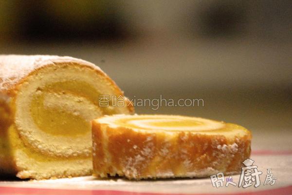 芒果雪糕蛋卷的做法