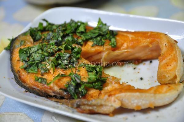七味粉塔香鲑鱼的做法
