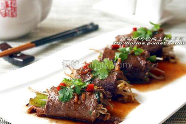 舞菇鲜蔬牛肉卷的做法