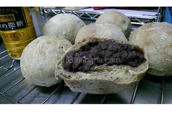 欧式抹茶红豆面包的做法