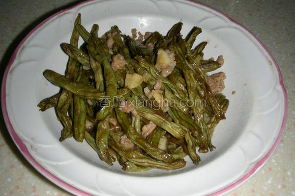 干扁四季豆的做法
