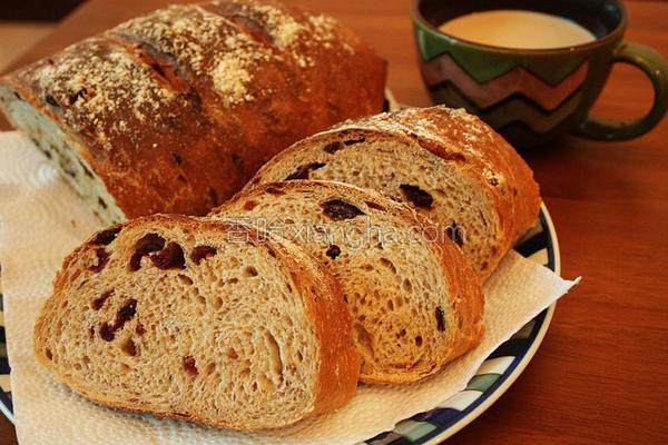 欧式葡萄全麦面包的做法