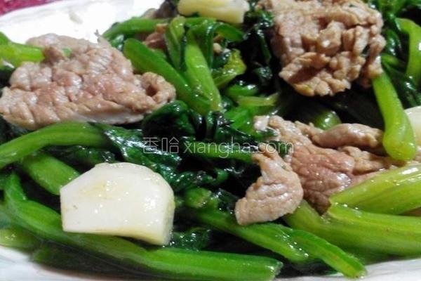 菠菜牛肉的做法