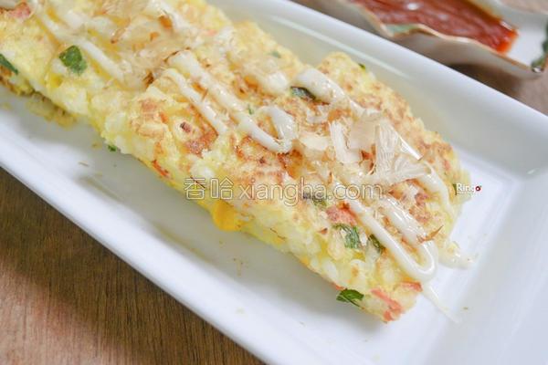 米饭蛋饼的做法