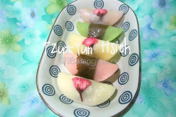 樱花麻糬饼的做法