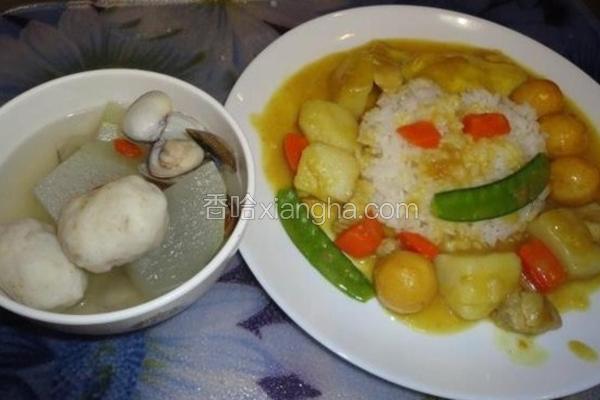 冬瓜蛤蜊旗鱼丸汤