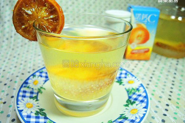 苹果醋C西米露的做法