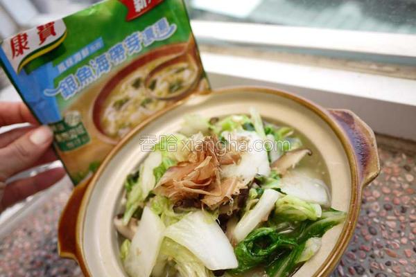 酱银鱼烩白菜的做法