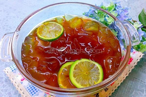 黑糖水柠檬爱玉的做法