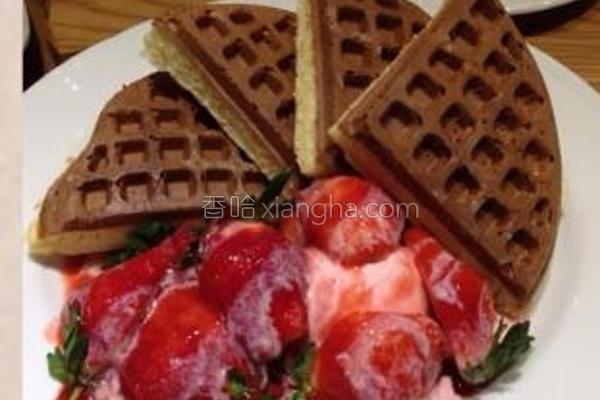 草莓炼奶松饼的做法
